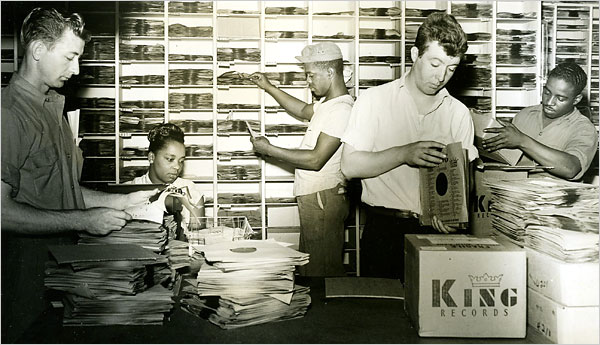 Employees in King Records' shipping department (photo courtesy of Steve Halper)