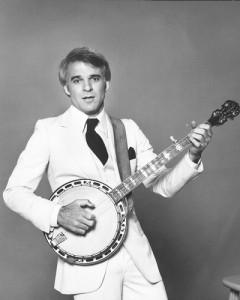 Steve Martin with banjo