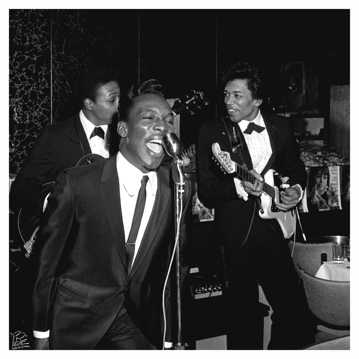 Jimi Hendrix and Wilson Pickett