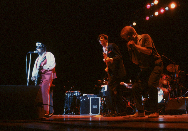 (l to r) Bo Diddley, DRB and Timmy Blue